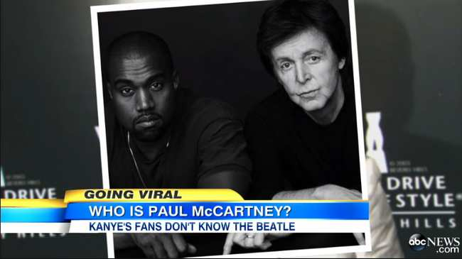 485b5dcbd3d1 The Media Got Trolled Into Thinking Kanye West Fans Don t Know Who Paul  McCartney Is