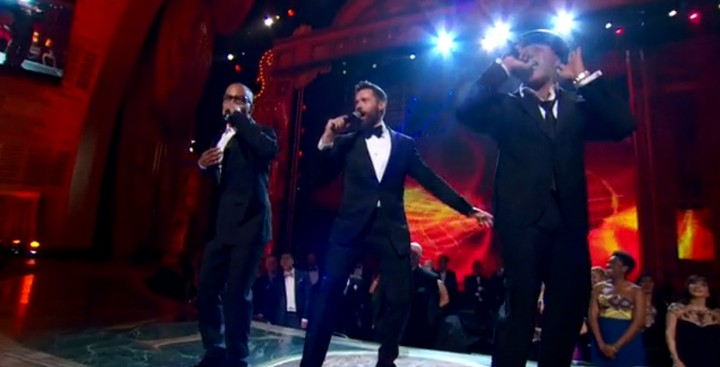 "T.I., LL Cool J, and Hugh Jackman Rapping ""The Music Man"" Together Is a Thing That Exists"