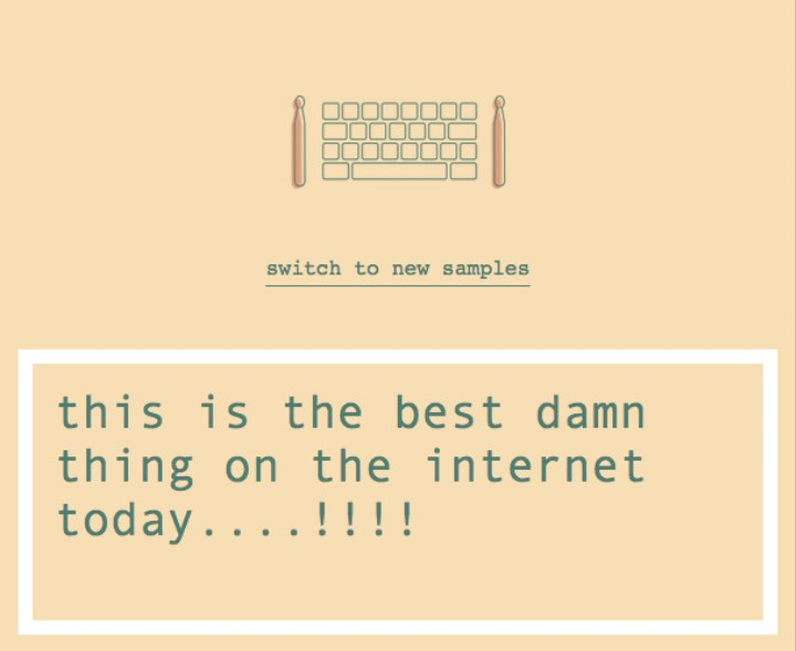 Stop Doing Real Things, This Webpage Let's You Turn Boring Words into Kinda Cool Beats