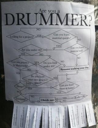 flowcharts drummer flyer