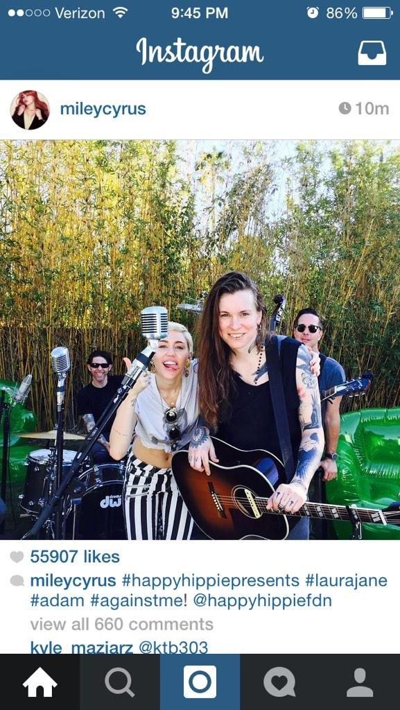 Watch Miley Cyrus Laura Jane Grace And Joan Jett Cover The Replacements Androgynous