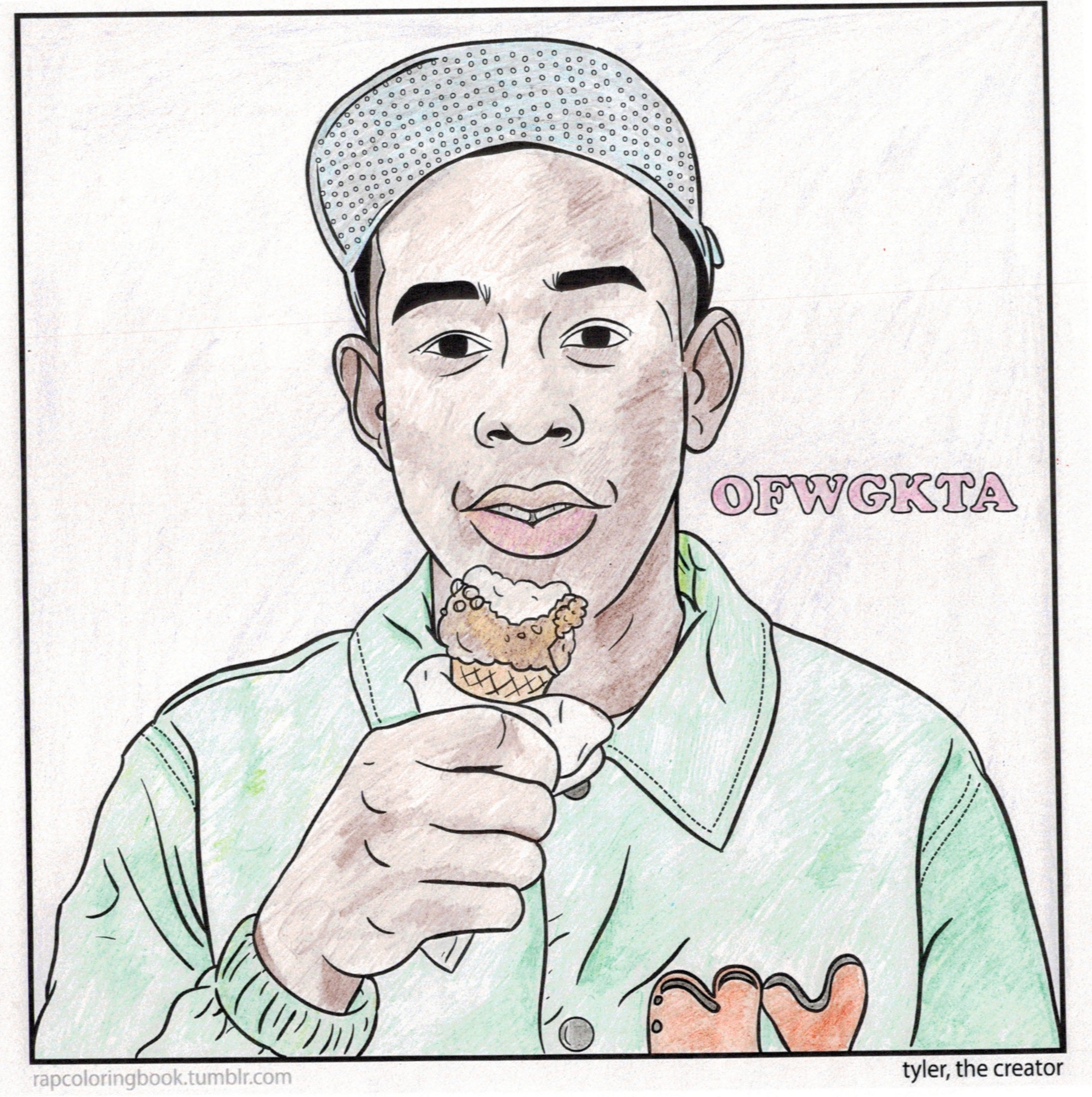 notice how ive opted for a tidy coloring job here using pencils check out that shading take that odd future fans
