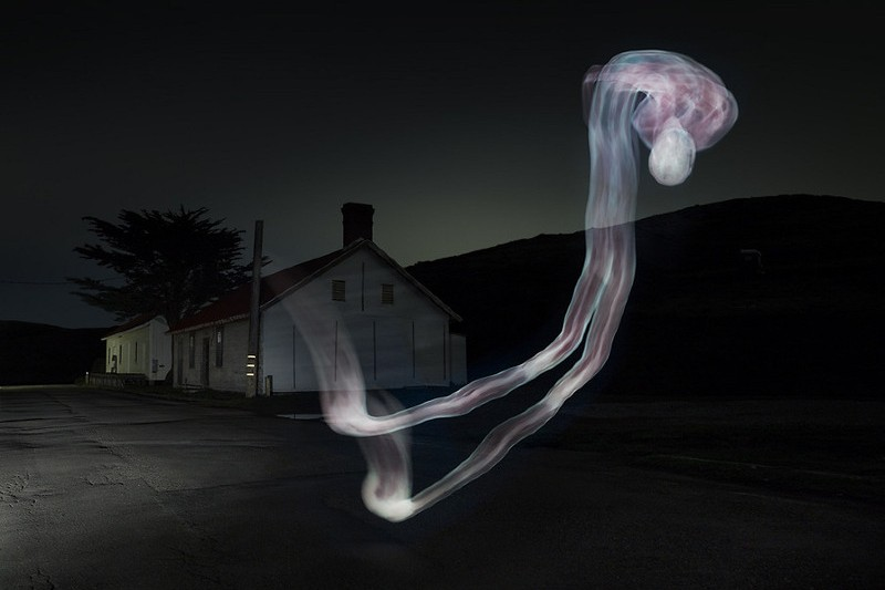 Light Painting With A Corpse [Slideshow]