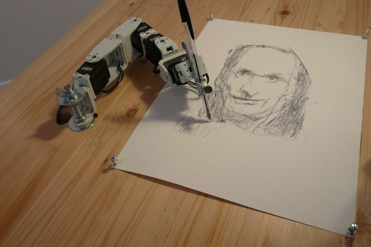 "Meet ""Paul"" and ""Pete,"" The Sketching Robots"