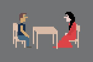 "Marina Abramovic's ""The Artist Is Present"" Becomes An 8-bit Video Game"