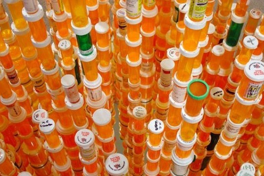 Recycled Keyboards And Pill Bottles Create Breathtaking Installations