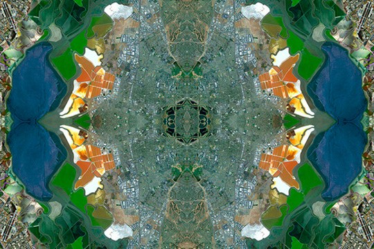 Aerial Landscapes Become Kaleidoscopic Persian Rugs In Anthropocene