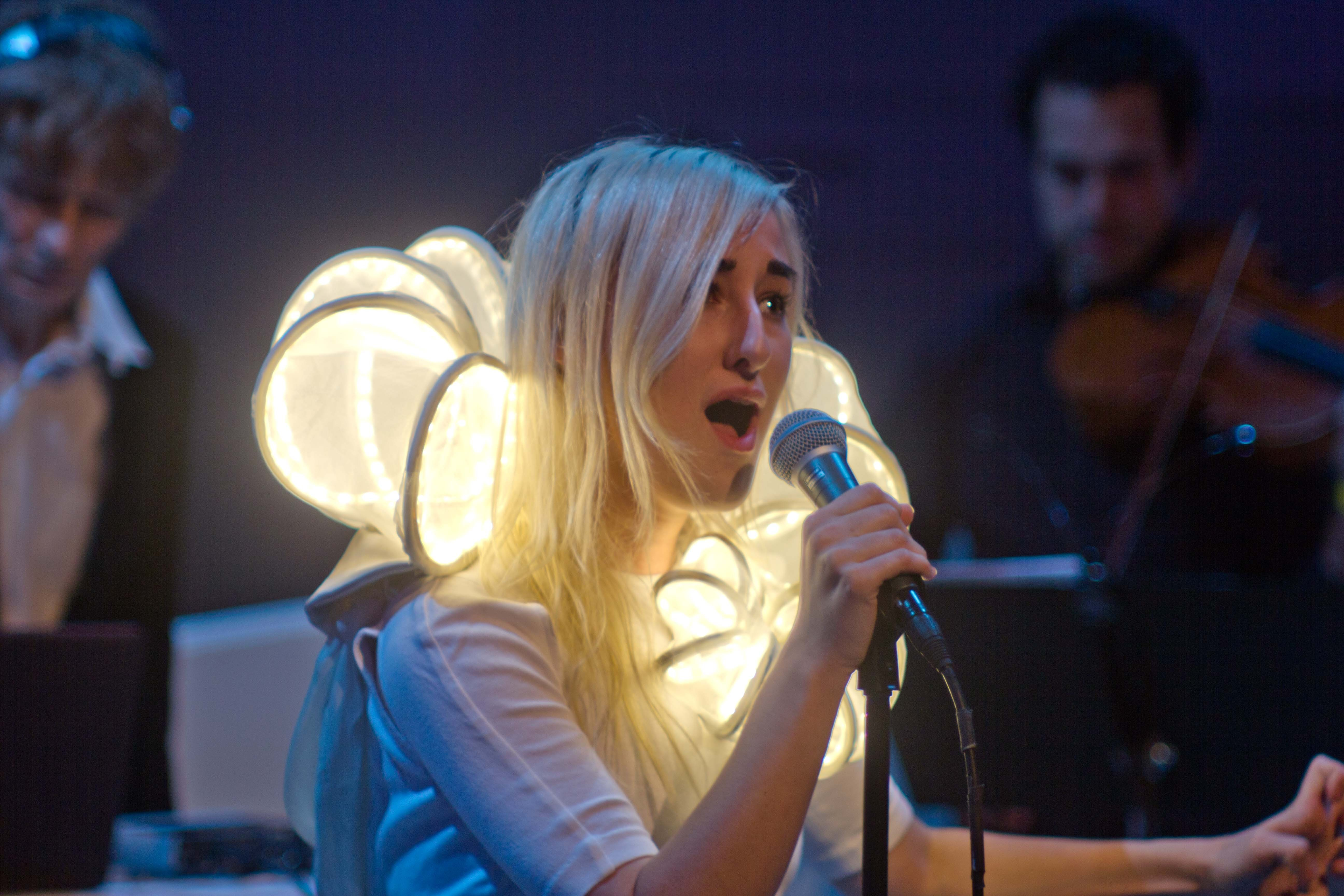 Zola Jesus Shows Off A New LED Collar At Her Guggenheim Performance [Photo Slideshow]
