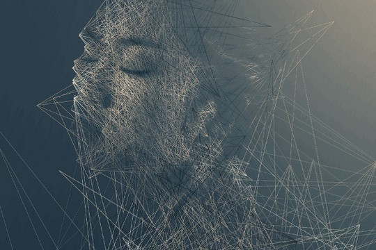 Shattered, Geometric Portraits Of People Forming And Fragmenting