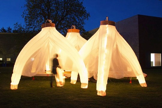 Fantastic Trailer Structures Light Up The Night