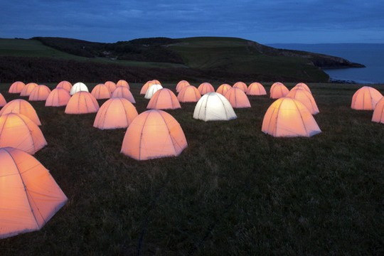 Peace Camp Will Illuminate The British Coastline With Thousands Of Tents
