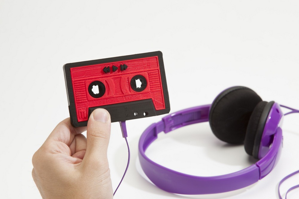 The 1980s Live On With This 3D Printed Cassette Mixtape