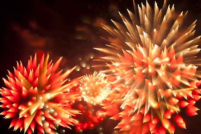 Photographer Captures Fireworks' Bursts And Blooms With Long-Exposure Technique