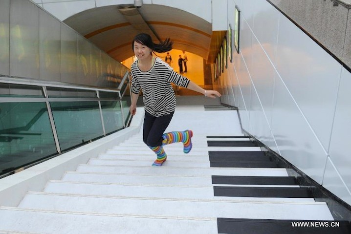 Piano Stairs Let You Play A Melody While You Walk
