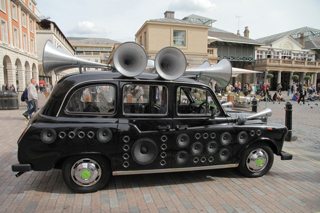 Customized London Taxi Cab Converts Street Noise Into Electronic Music