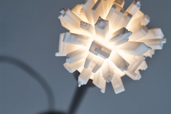 3D Printed Light Bulbs Topped With A Cityscape