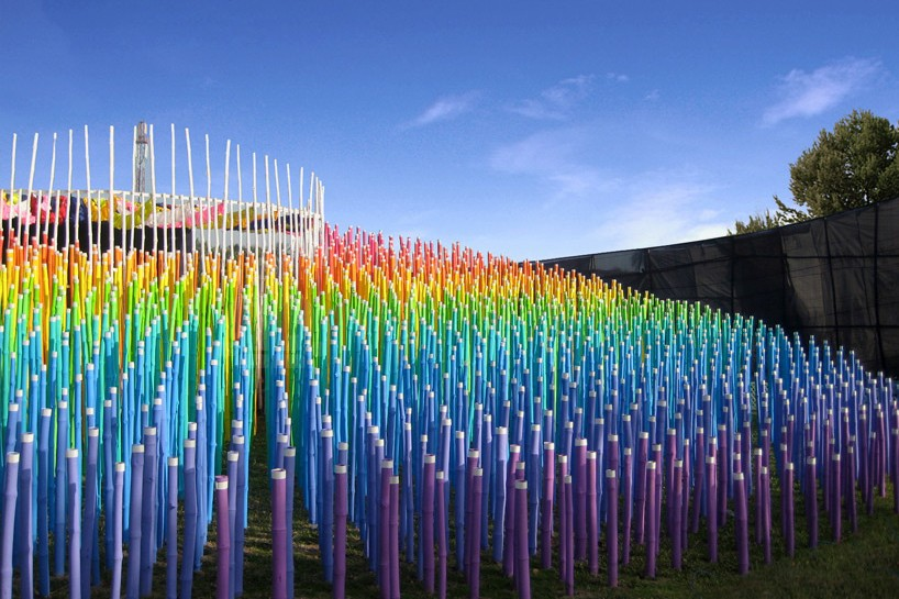 Bamboo Rainbow Lights Up A Temple Pavilion In Upcoming MoMA Exhibition