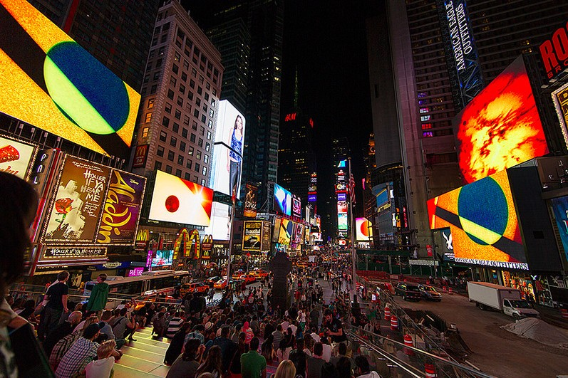 """Times Square Becomes A Cosmic Epicenter In Yorgo Alexopoulos' """"Transits"""""""