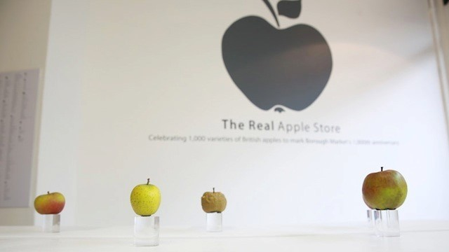 Una Apple Store que vende manzanas