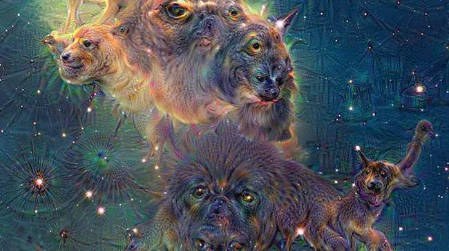 """Résultat de recherche d'images pour """"deepdream nebula google"""""""