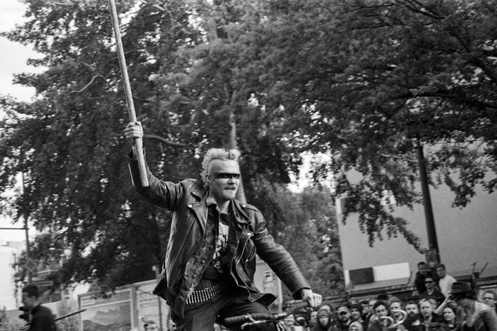 Photos of Berlin's Brutal 'Bike War'