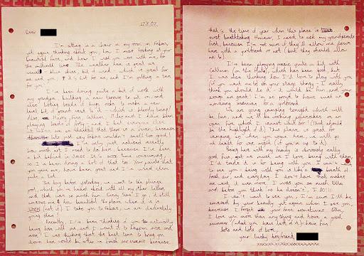Heartbreaking love letter for him
