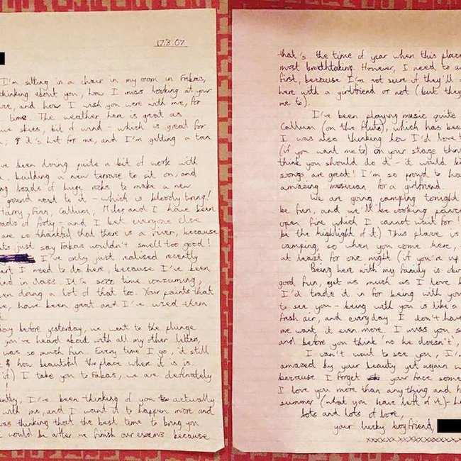 Et års dating kærlighedsbrev