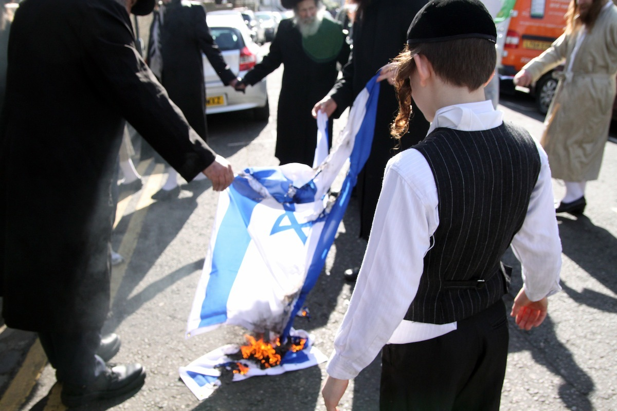 Image result for jews burning flags in israel