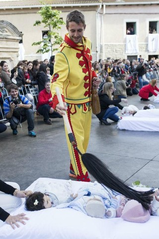 The Strange Tradition Where People Dress Up As Demons And Jump Over